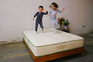 Harvest Kids Jumping On Mattress