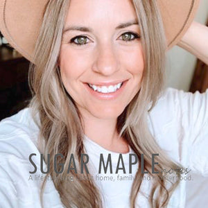 Sarah from Sugar Maple Notes | Organic Mattress | Green Mattress | Fiberglass Free Mattress | harvestgreenmattress logo