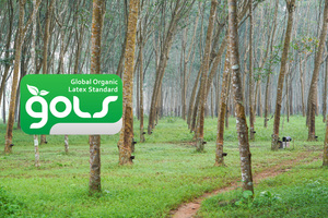 GOLS Certified Organic Latex Logo With Trees