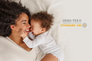 Mom and son on OEKO-TEX Certified