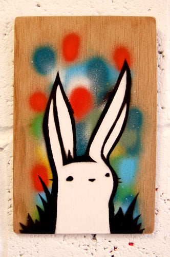 Original contemporary art, spray paint and stencil on board by Brighton artist Cassettelord