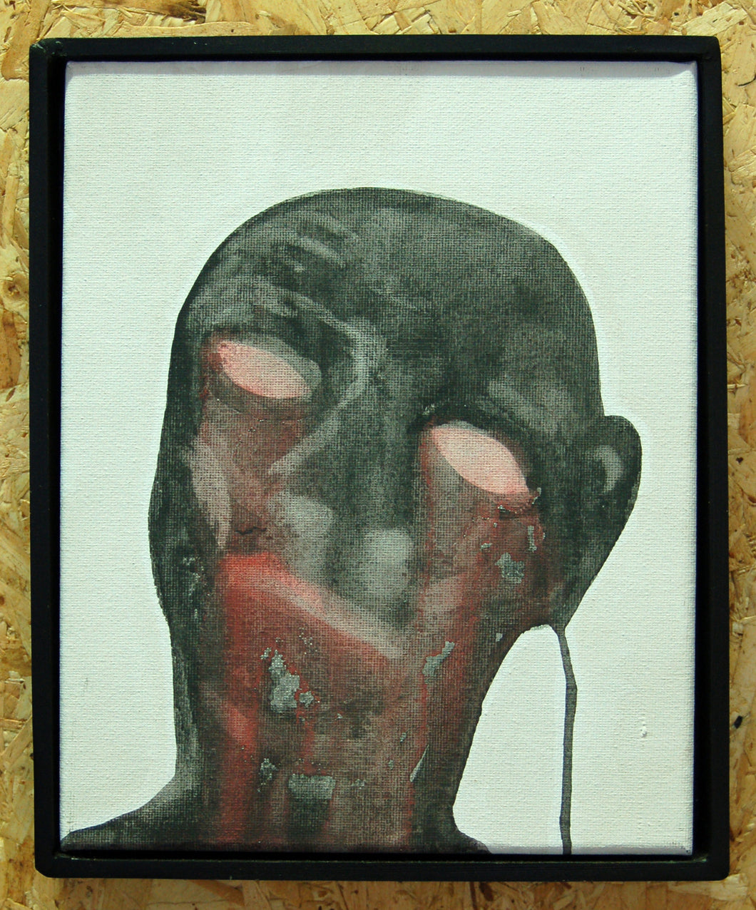 Original figurative watercolour. Contemporary outsider art.