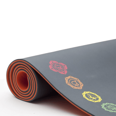Tapis de Yoga écologique 7 Chakras EQ Love - 6 mm - Tayrona Yoga