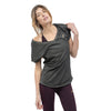 Tee shirt en coton Bio ASANA VEGETAL BLACK Yoga Feel Green