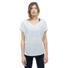 Tee shirt en coton Bio ASANA  WHITE Yoga Feel Green