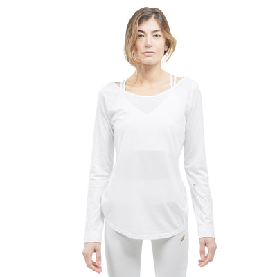 Tee shirt de Yoga Bio SPIRITUAL WHITE Yoga Feel Green