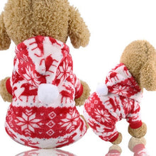 Load image into Gallery viewer, Christmas Dog Clothes Red Coat Tree Pattern Winter Cute Coat  Winter Autumn