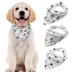 3pcs/lot Cotton Dog Bandana