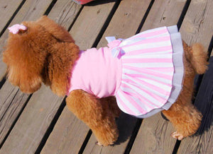 Dog Bow Tutu Dress