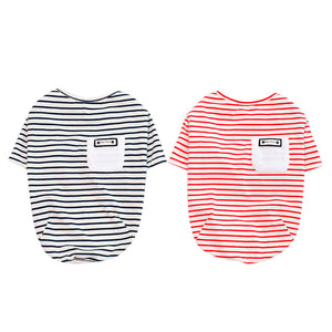 Dog Striped T-shirt