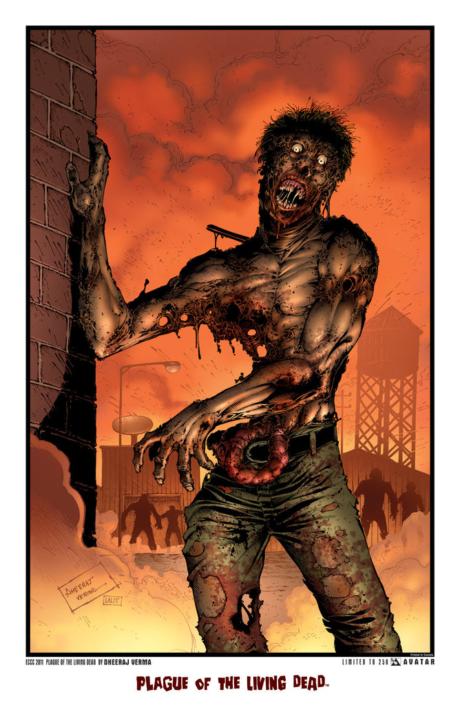 Plague of the Living Dead ECCC 2011 Print