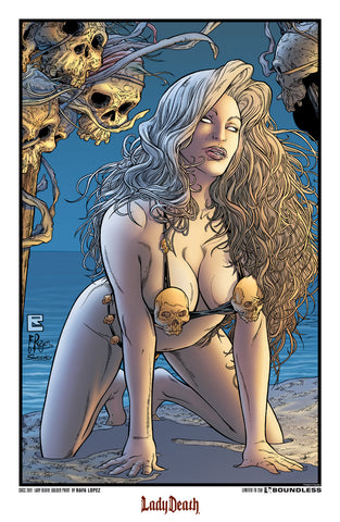 Lady Death: Golden SDCC 2011 Print