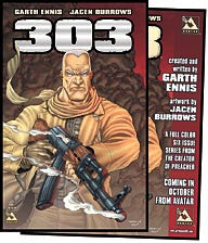 Garth Ennis' 303 #1 Platinum / signed poster set