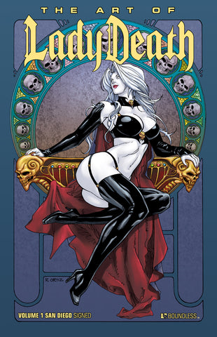ART OF LADY DEATH HC SAN DIEGO COMIC CON ED