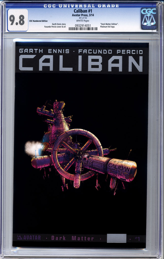 CALIBAN #1 Platinum CGC Numbered Edition
