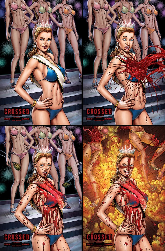 CROSSED: BADLANDS #29 MISS CROSSED COVER SET