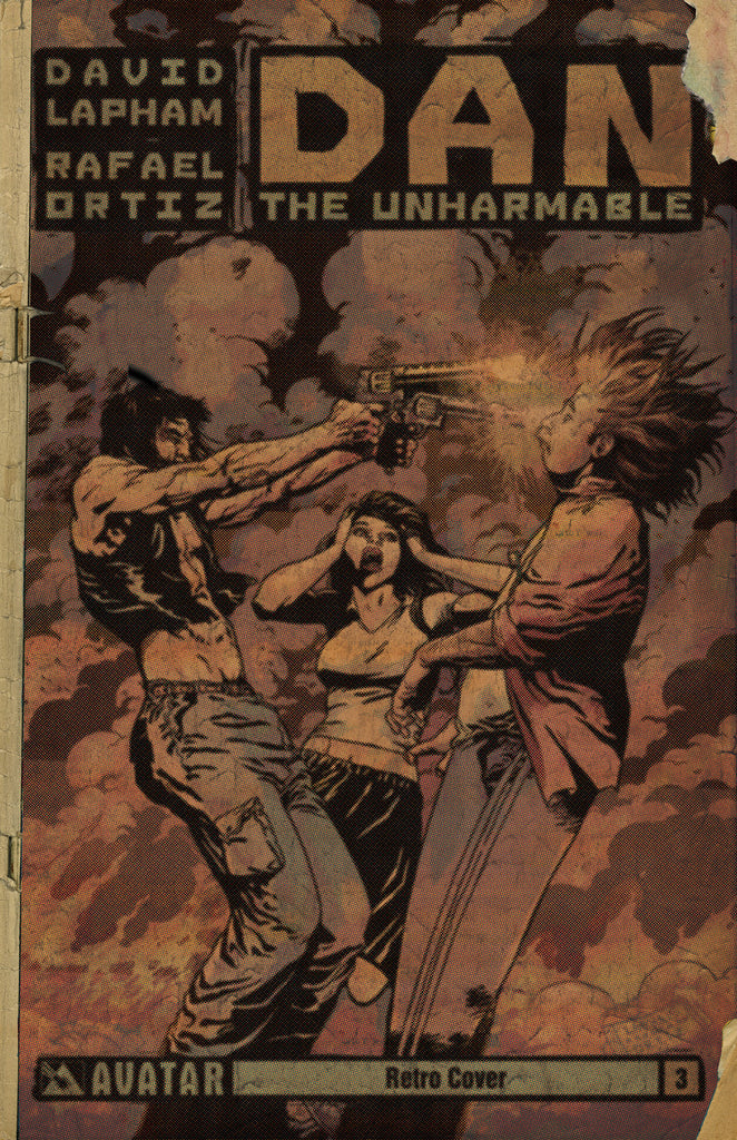 DAN THE UNHARMABLE #3 RETRO INCENTIVE COVER