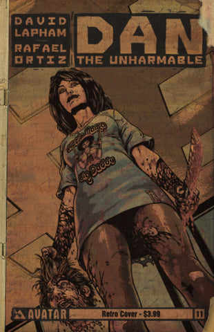 DAN THE UNHARMABLE #11 RETRO INCENTIVE COVER