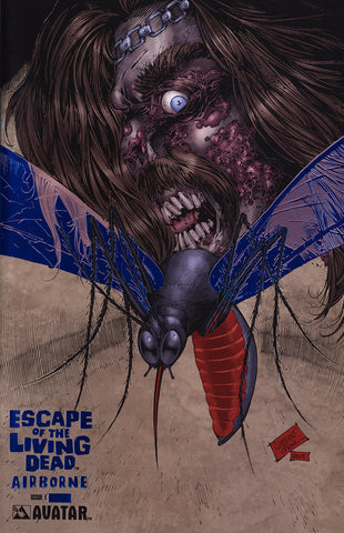 ESCAPE OF THE LIVING DEAD: Airborne #1 Royal Blue Foil