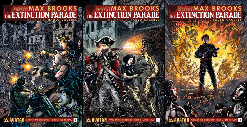 EXTINCTION PARADE #1 ARMY OF BLOODLINES BLAST 3 BOOK SET