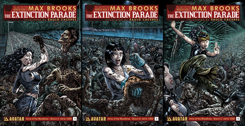 EXTINCTION PARADE #1 ARMY OF BLOODLINES BRAWN 3 BOOK SET