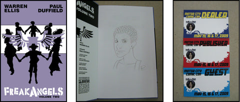 FreakAngels Vol 2 Hardcover Dual Signed and Sketched Ed. - Caz