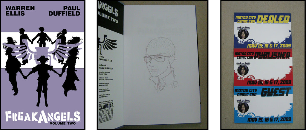 FreakAngels Vol 2 Hardcover Dual Signed and Sketched Ed. - Kirk