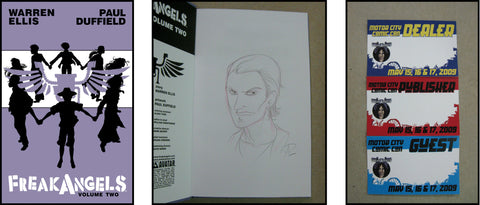 FreakAngels Vol 2 Hardcover Dual Signed and Sketched Ed. - Luke