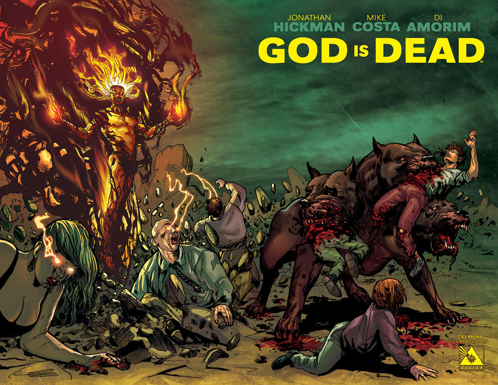 GOD IS DEAD #6 CARNAGE WRAPAROUND COVER