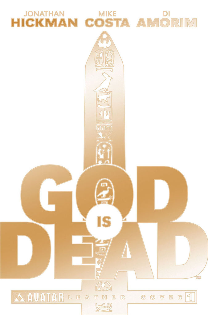 GOD IS DEAD #1 White Leather Gold