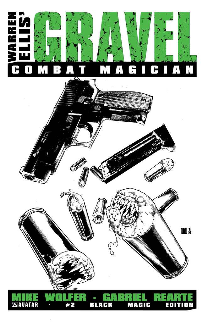 GRAVEL: COMBAT MAGICIAN #2 BLACK MAGIC RETAILER ORDER INCENTIVE COVER