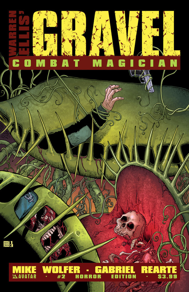 GRAVEL: COMBAT MAGICIAN #2 HORROR COVER