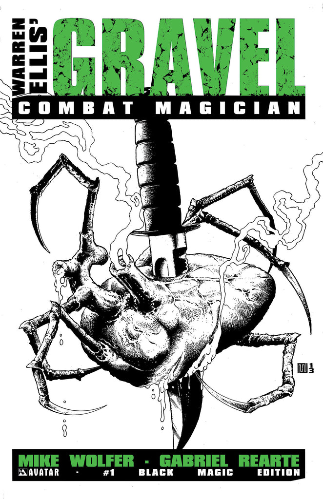 GRAVEL: COMBAT MAGICIAN #1 BLACK MAGIC RETAILER ORDER INCENTIVE