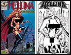 Hellina: Kiss of Death 1 Nude  (Lightning) 10th Ann print  set