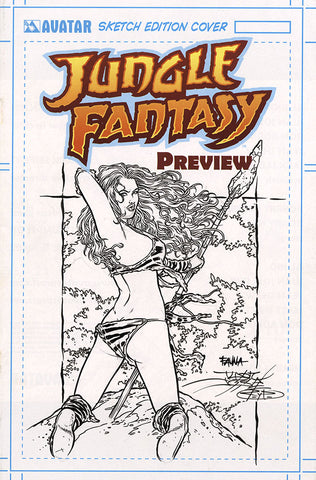 JUNGLE FANTASY: FAUNA $499 KS Original Art - Intense #1 Flirt