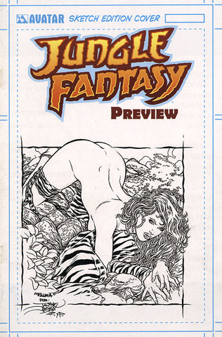 JUNGLE FANTASY: FAUNA $499 KS Original Art - Intense #1 Seduction