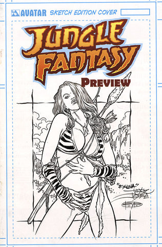JUNGLE FANTASY: FAUNA $499 KS Original Art - Intense #1 Sensual