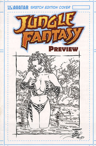 JUNGLE FANTASY: FAUNA $499 KS Original Art - Intense #1 Skinny Dip