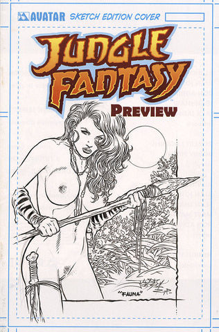 JUNGLE FANTASY: FAUNA $499 KS Original Art - Intense #1 Sunrise Nude