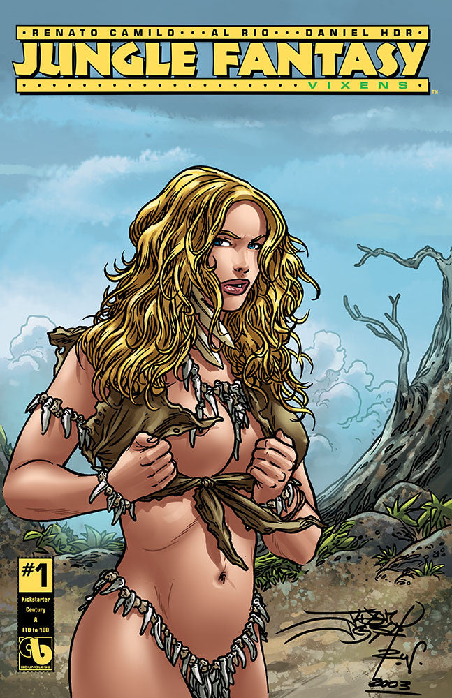 JUNGLE FANTASY: VIXENS #1 Kickstarter Century Set (of 10)