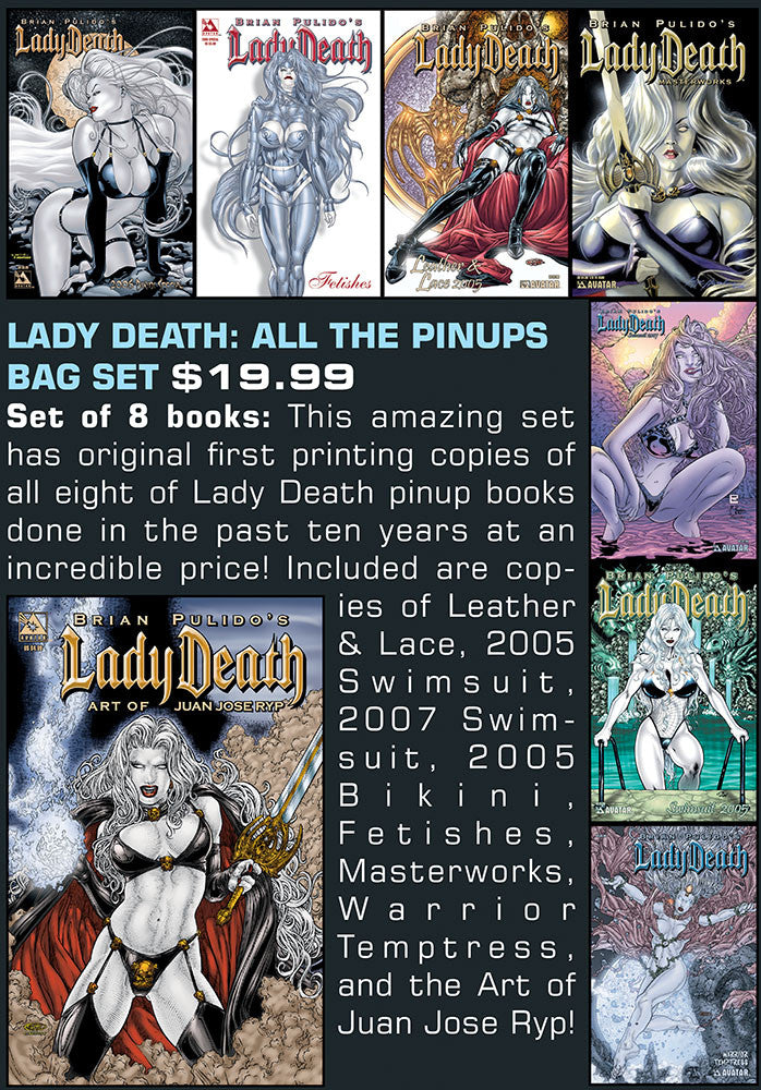 LADY DEATH: ALL THE PINUPS BAG SET