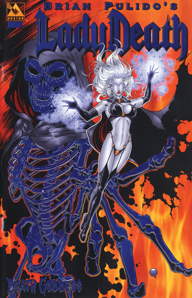 LADY DEATH Death Goddess Royal Blue