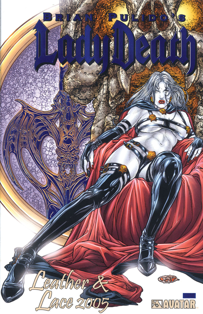 LADY DEATH Leather & Lace 2005 Royal Blue