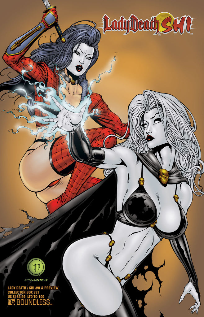 LADY DEATH / SHI #0 & PREVIEW COLLECTOR BOX SET