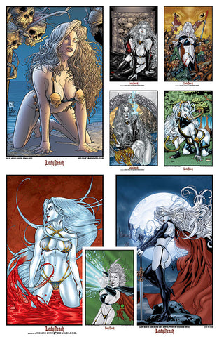 LADY DEATH 11 x 17 Art Prints Set (8 prints)