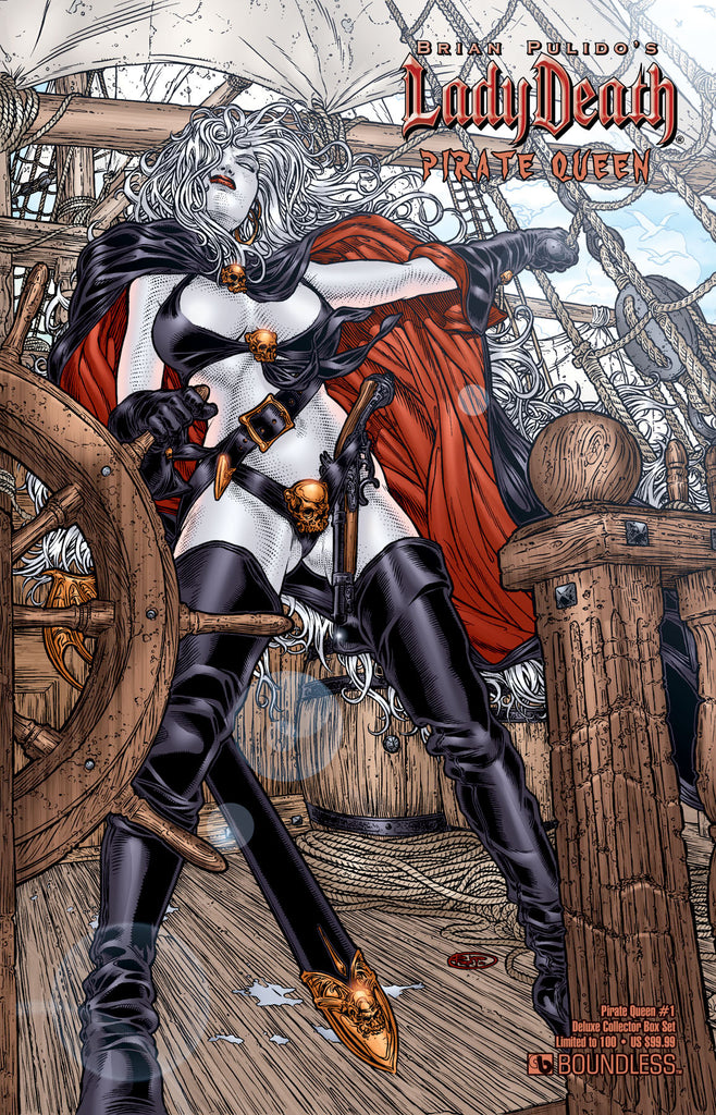 LADY DEATH PIRATE QUEEN #1 DELUXE COLLECTOR BOX SET
