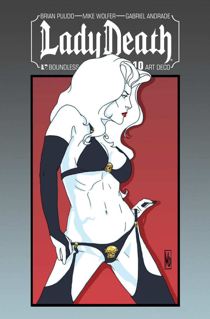 LADY DEATH #10 Art Deco order incentive