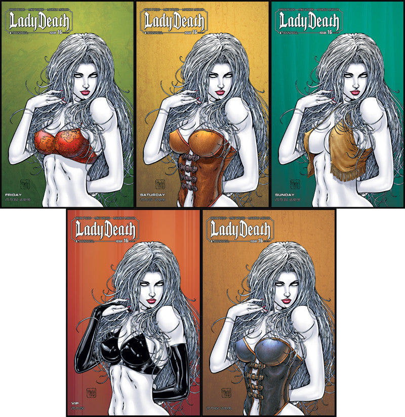 LADY DEATH #16 Calgary VIP Set with Bonus Cvr