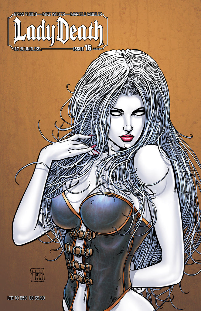 LADY DEATH #16 CLOSE UP COVER