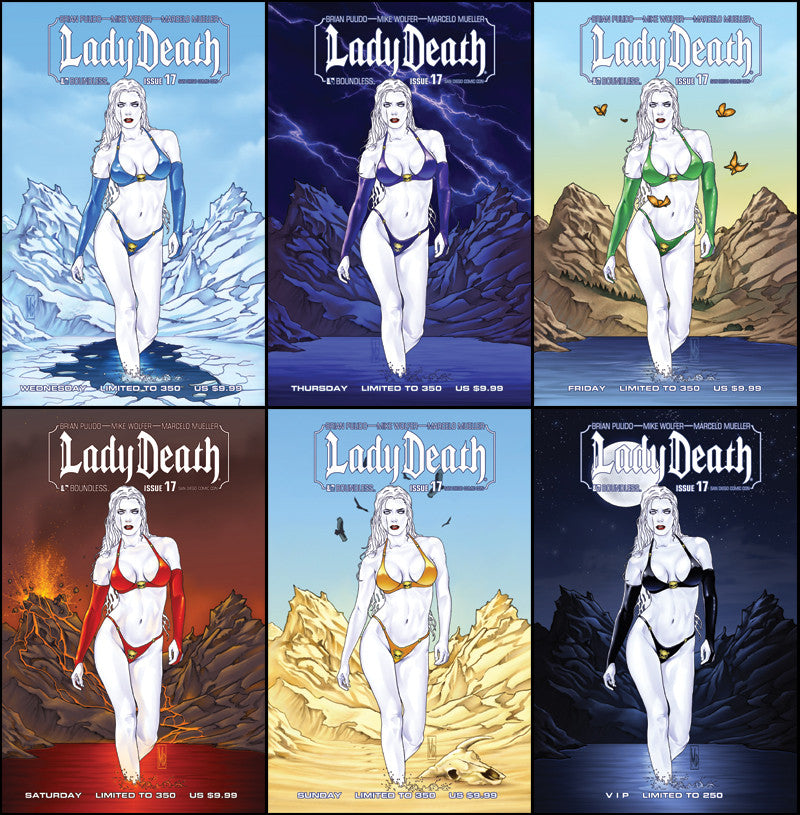 LADY DEATH #17 San Diego VIP Set with Bonus Cvr